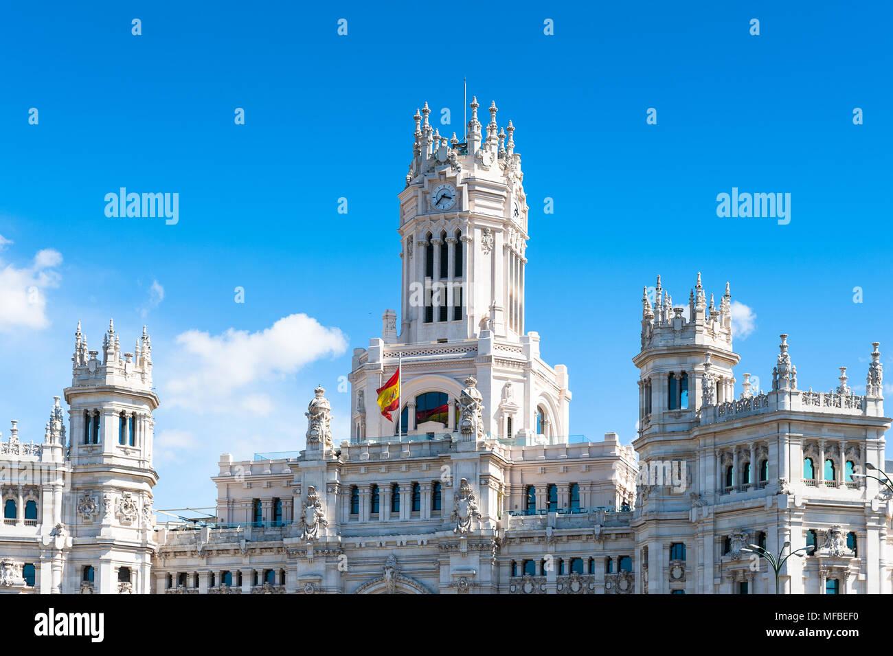 Cibeles Palace Palacio De Cibeles Madrid Spain It Was