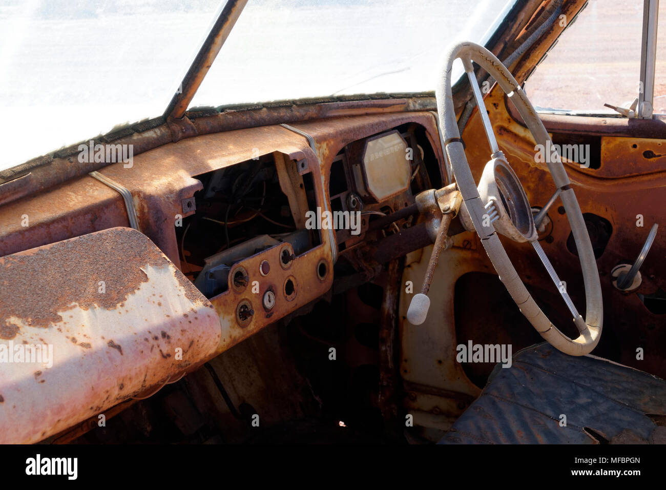 Old Abandoned Car In Australian Stock Photos & Old Abandoned Car In ...