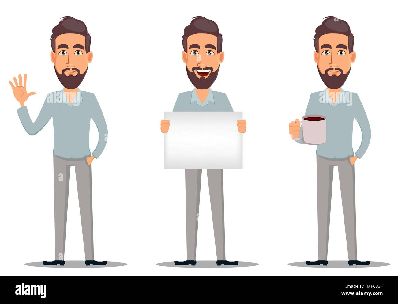 Cartoon Man With Drink Stock Photos Amp Cartoon Man With
