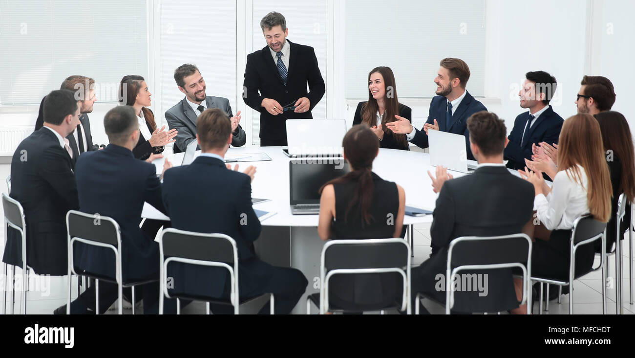 business negotiations at the round table Stock Photo