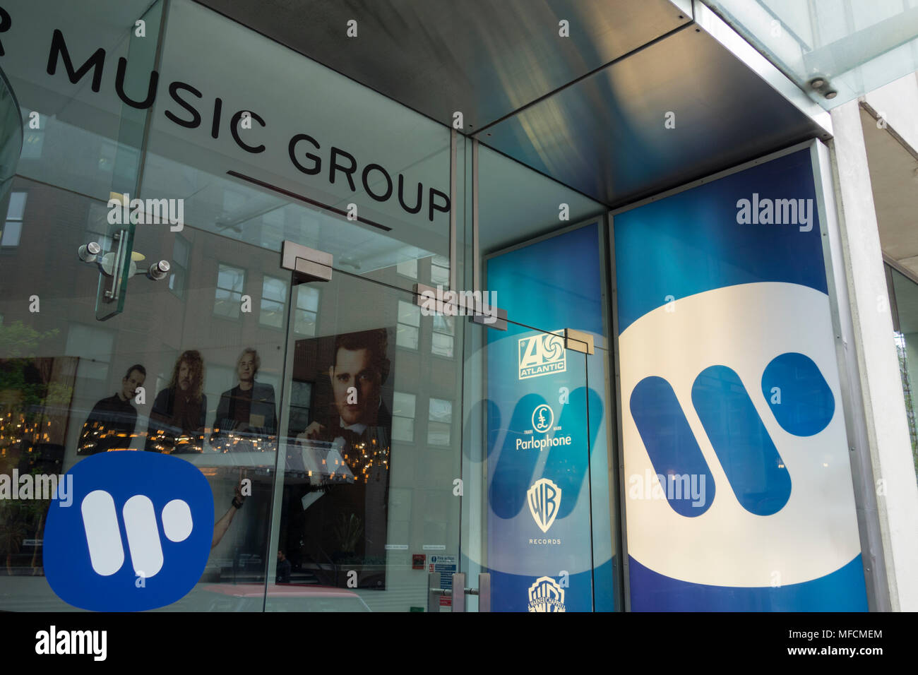 The Warner Music Group headquarters on Wrights Lane