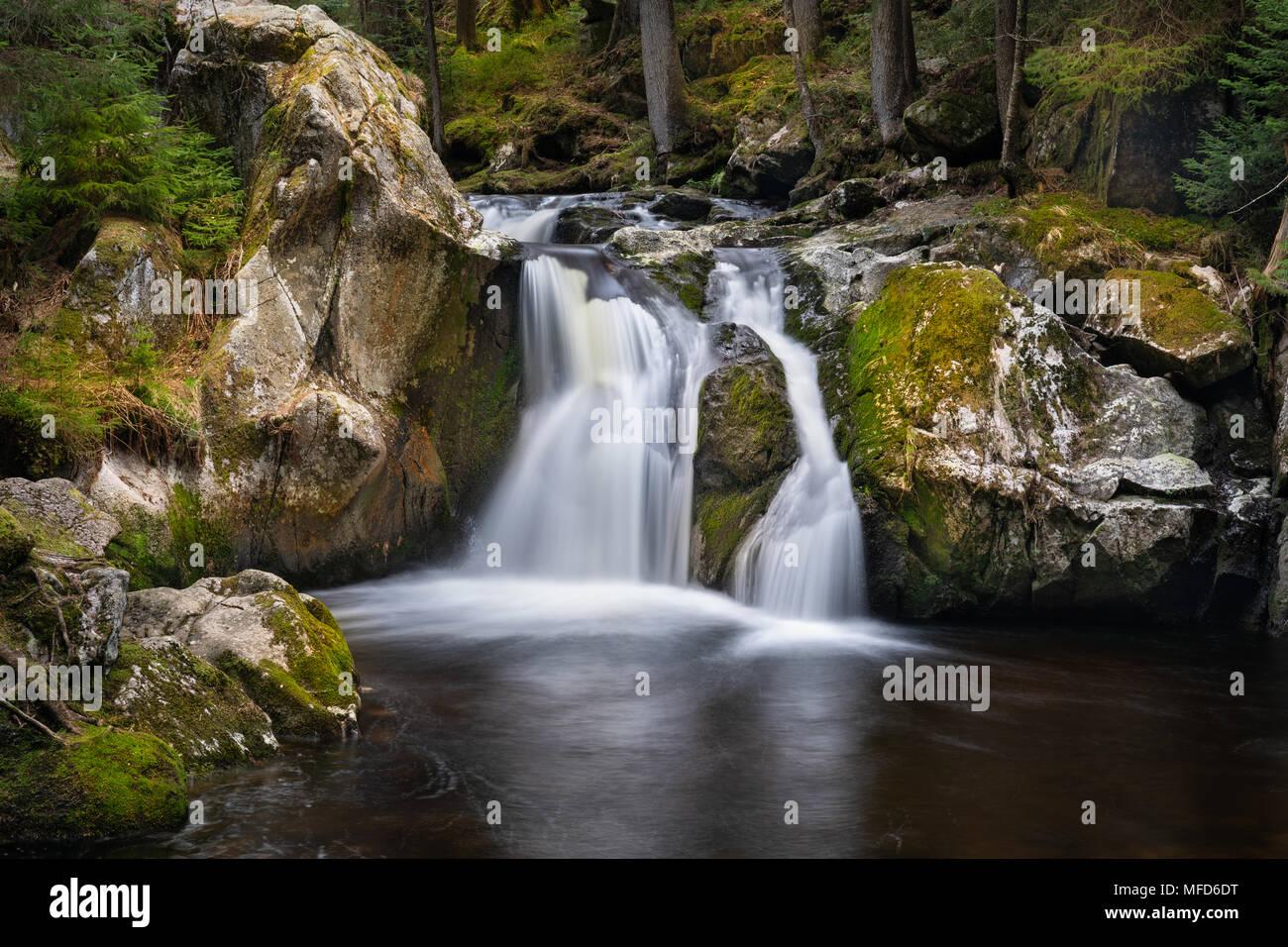 Krai Woog Gumpen Waterfall in Black Forest, Germany Stock Photo