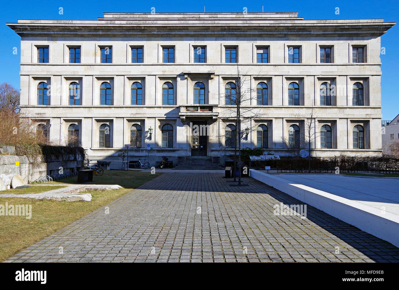 Die Fuhrerbau,  the Führer's building, built 1933-1937, is now the University of Music and Performing Arts, Munich. - Stock Image