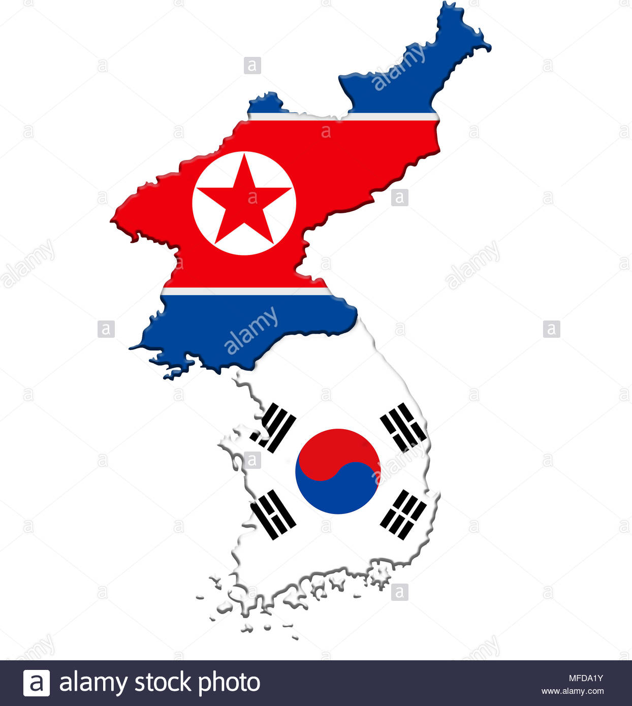 South Korea Map Cut Out Stock Images & Pictures - Alamy
