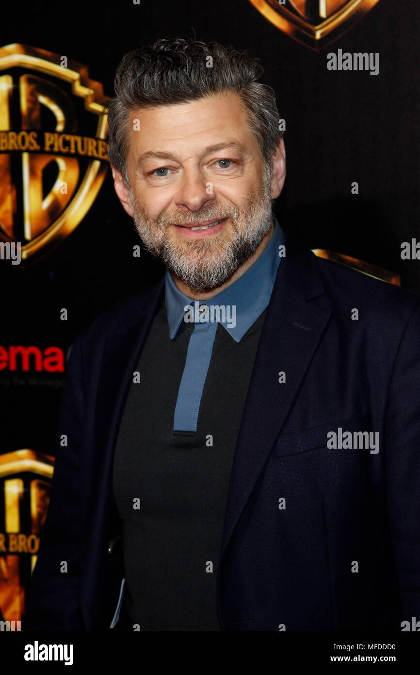 Andy Serkis in attendance for The Warner Bros. Presentation at Cinemacon 2018, The Colosseum at Caesars Palace, Las Vegas, NV April 24, 2018. Photo By: JA/Everett Collection - Stock Image