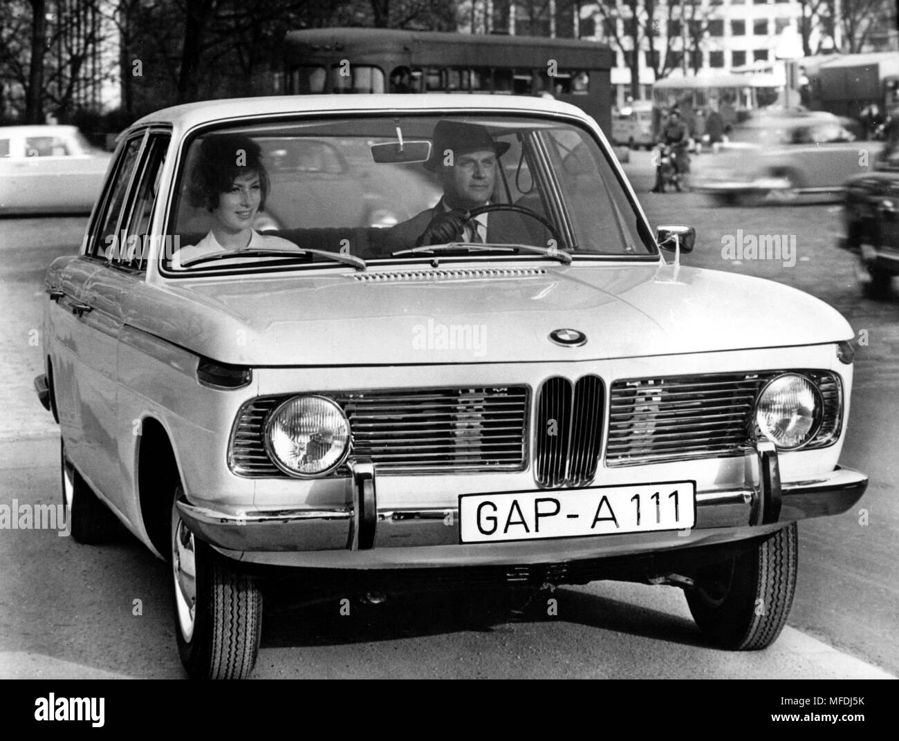 Front view of the new BMW 1500. Picture taken in 1962. The ...