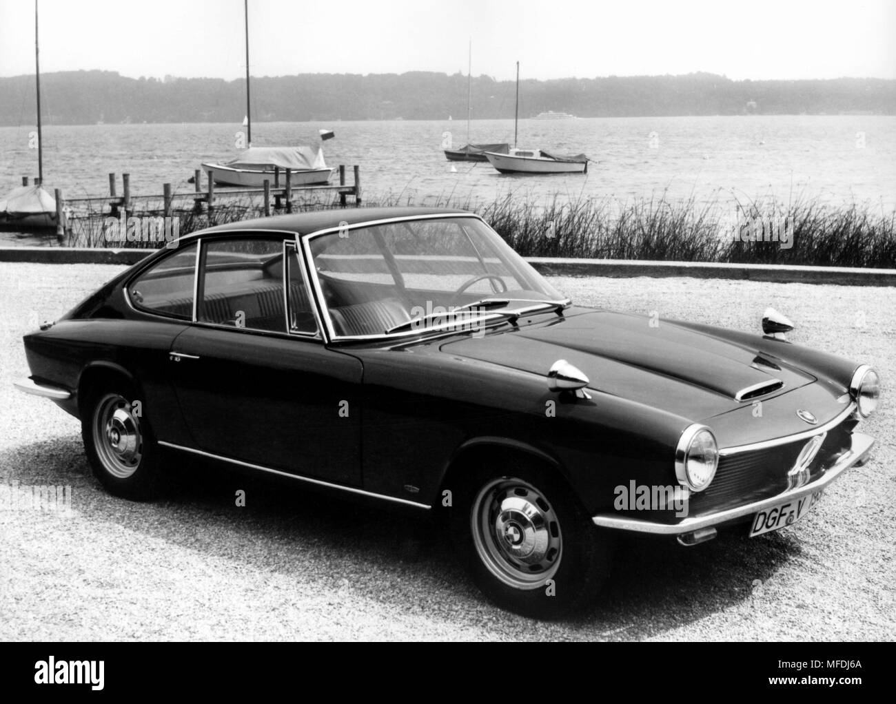 A BMW Of The Type 1600 GT With 105 Hp. (undated Shot) The Fastest Car In The  1600 Series, The New BMW GT Achieves A Top Speed Of 190 Kilometers Per Hour.