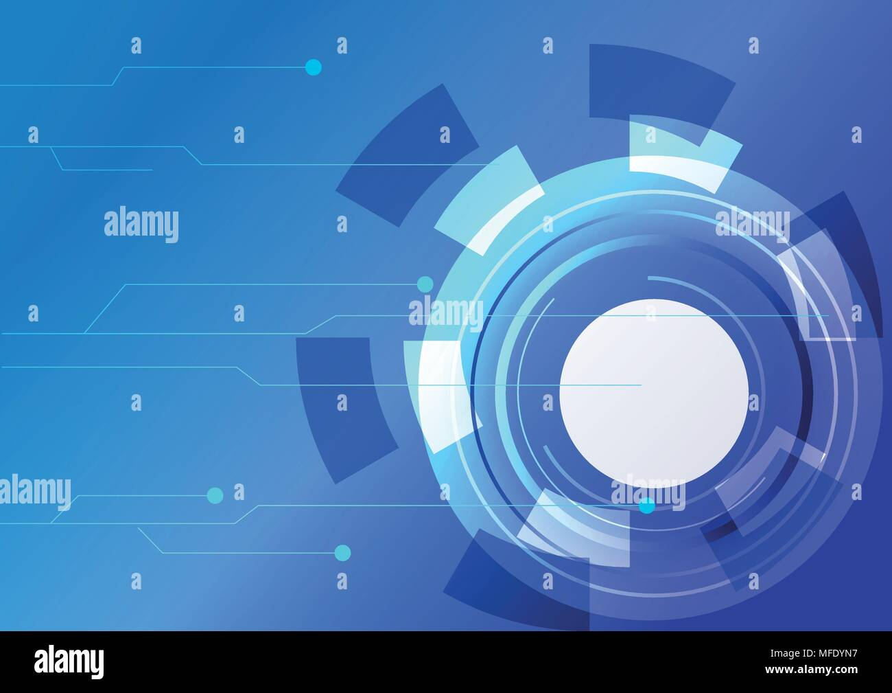 Blue Abstract Vector Technology Background With Futuristic Circuit Photo Of High Tech Board Hi Digital Concept