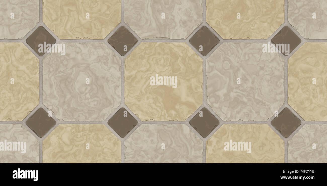 Beige Brown Seamless Classic Floor Tile Texture. Simple