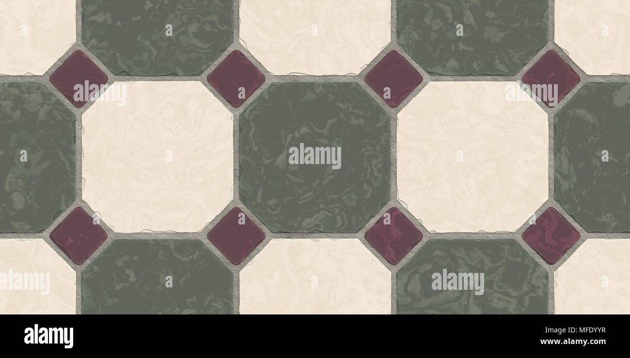 Beige Bogie Green Seamless Classic Floor Tile Texture Simple