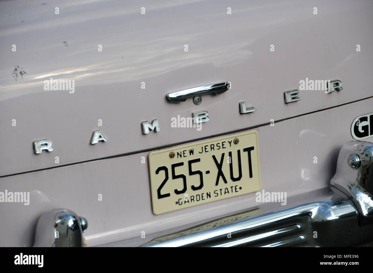 Grey vintage Rambler car - Stock Image