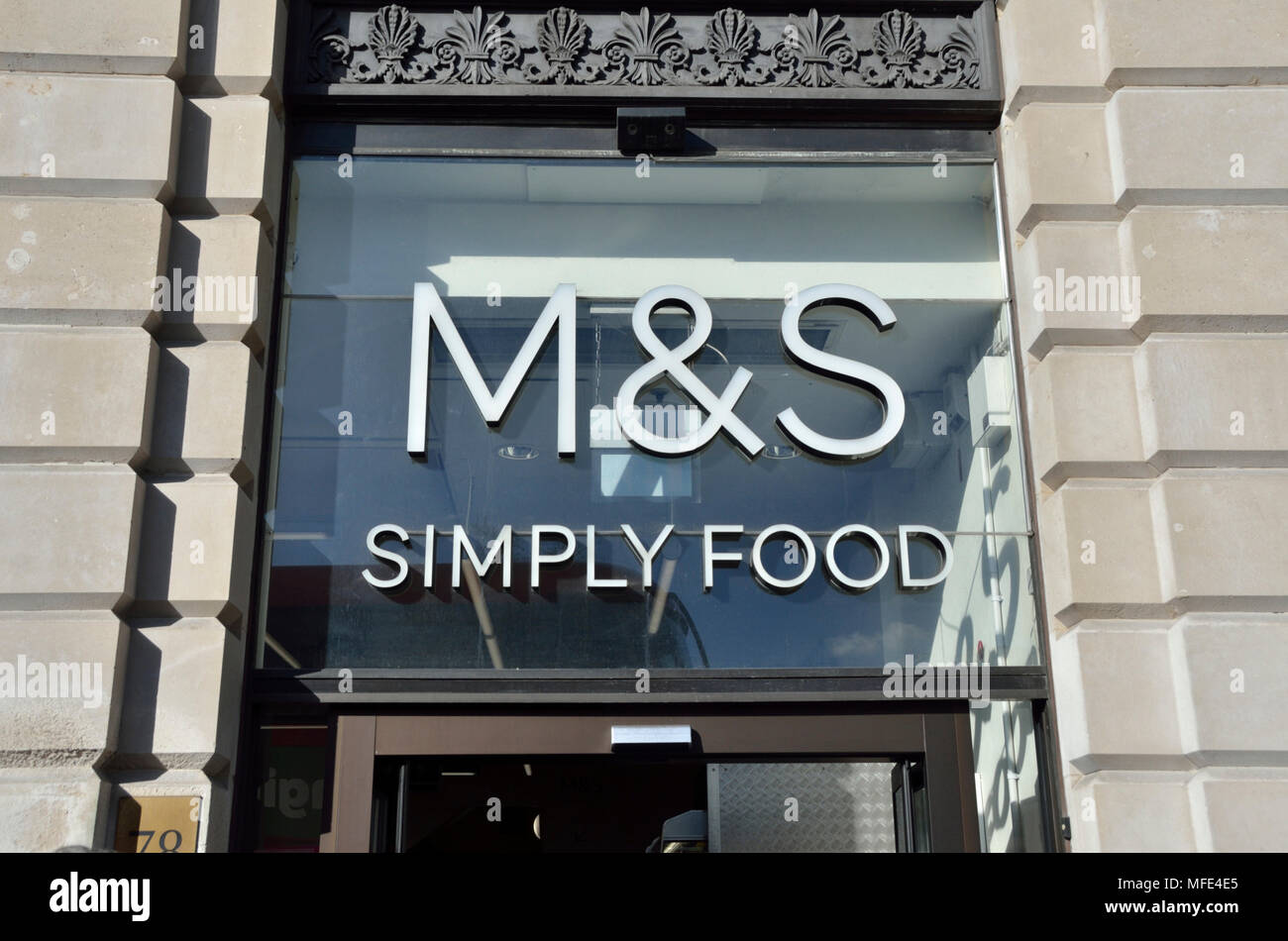 M And S Marks And Spencer Simply Food Supermarket Shop In Piccadilly London Uk Stock Photo Alamy