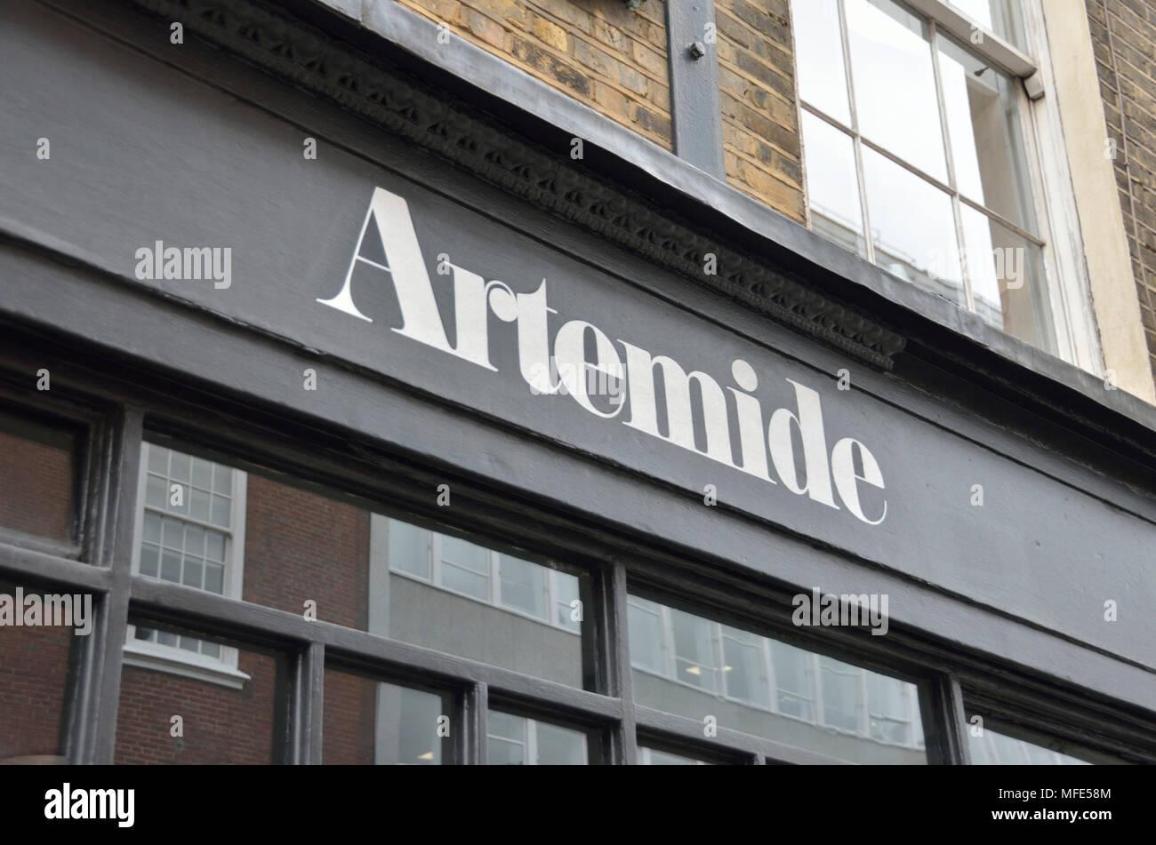 artemide lighting company in great russell street bloomsbury
