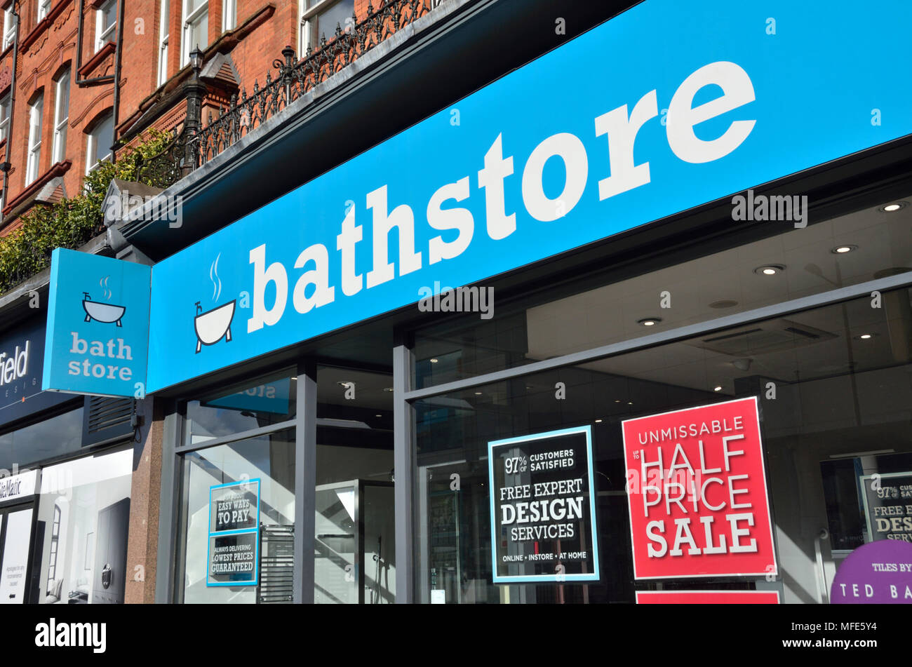 Bathstore bathroom store retailer in Finchley Road NW3, London, UK ...