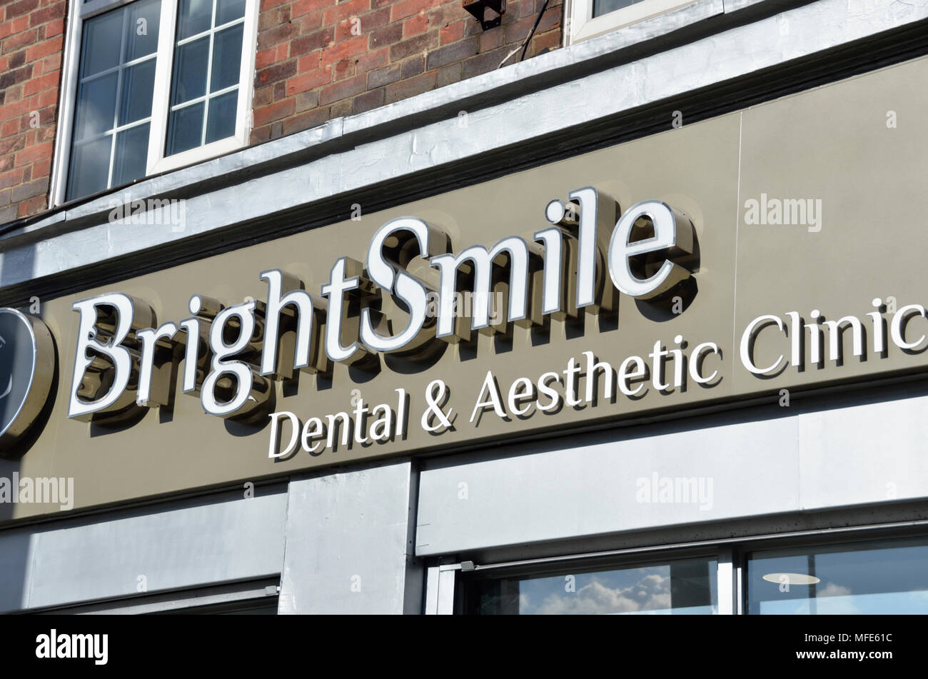 Bright Smile Dental and Aesthetic Clinic in Finchley Road NW3, London, UK. - Stock Image