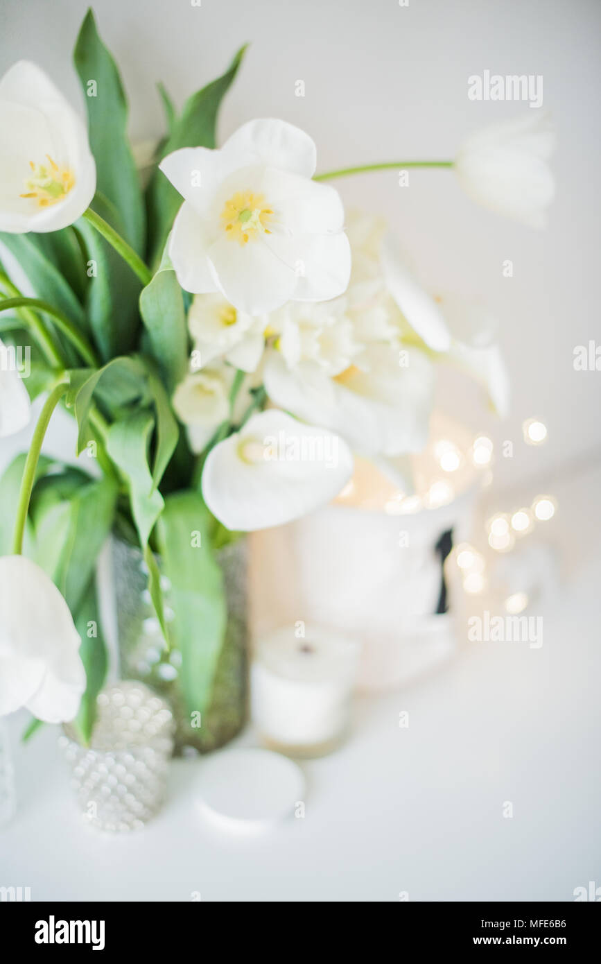 Large bouquet of white spring flowers in a vase daffodils tulips large bouquet of white spring flowers in a vase daffodils tulips and feces in home interior decor mightylinksfo