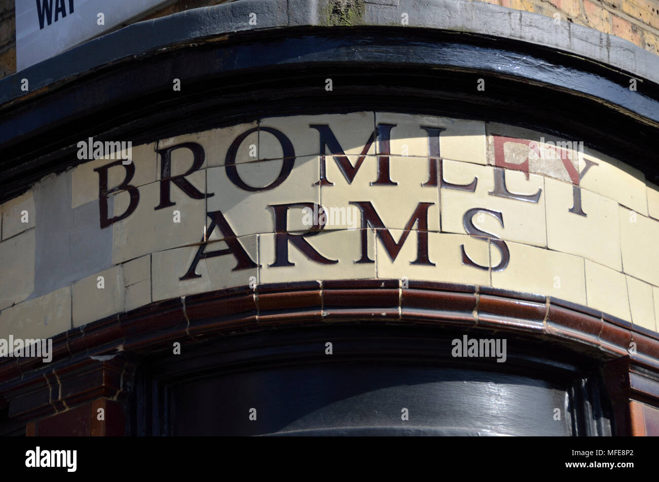 The forner Bromley Arms pub in Cleveland Street W1, Fitzrovia, London, UK. - Stock Image