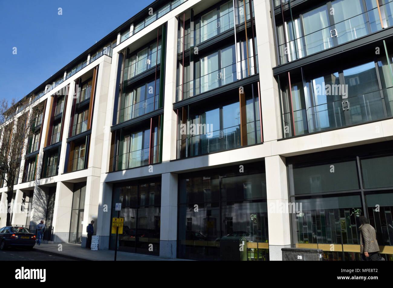 The Chilterns W1 luxury apartments, Marylebone, London, UK. Stock Photo