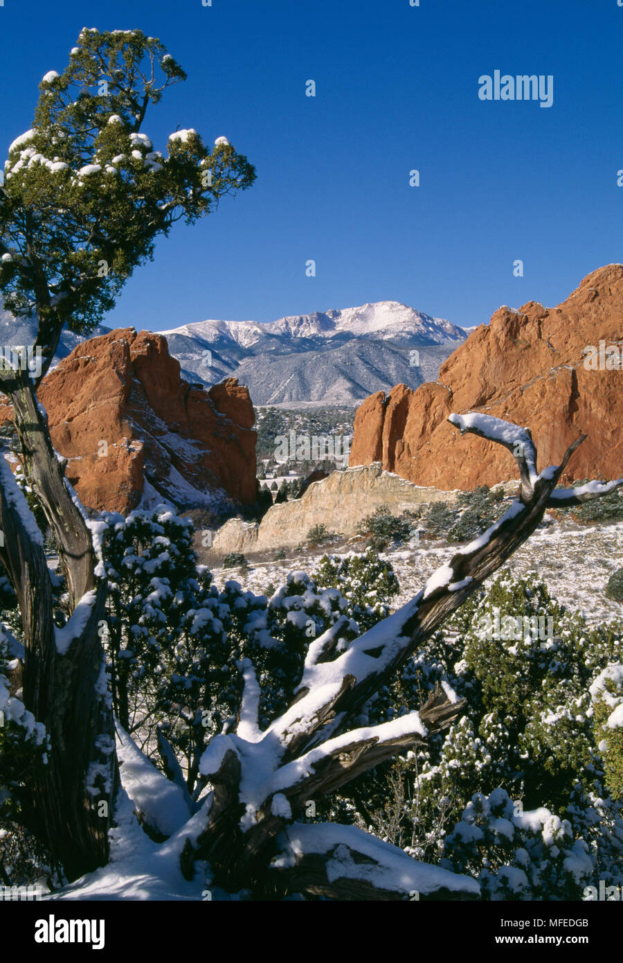 Garden Of The Gods Pikes Peak Rock Formation Early Winter