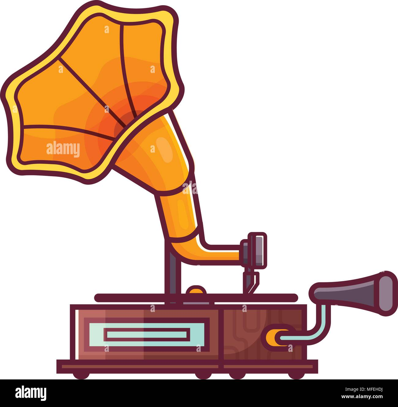 vintage horn gramophone icon stock vector image art alamy https www alamy com vintage horn gramophone icon image181644558 html