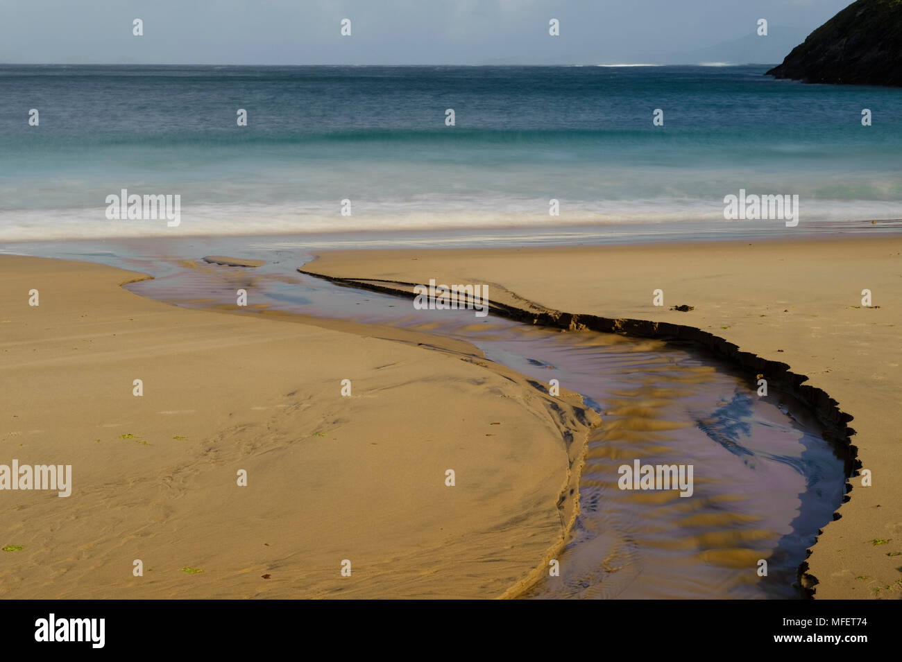 Keem Strand; on Achill Island, County Mayo, Ireland - Stock Image