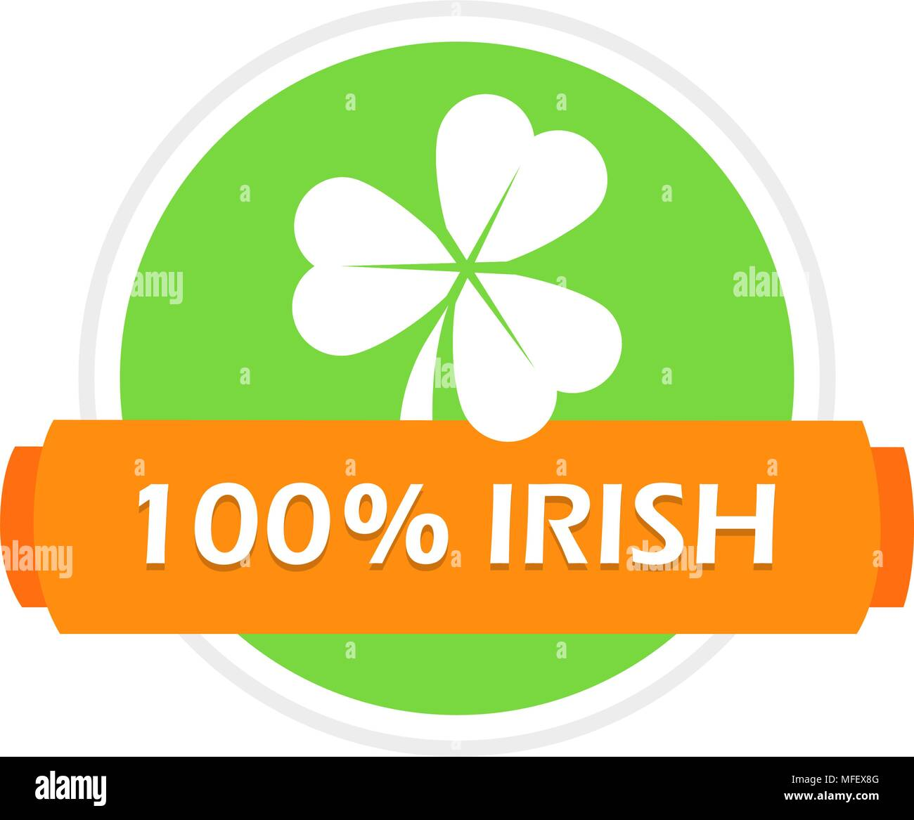 Stamp with Clover Leaf - Stock Vector