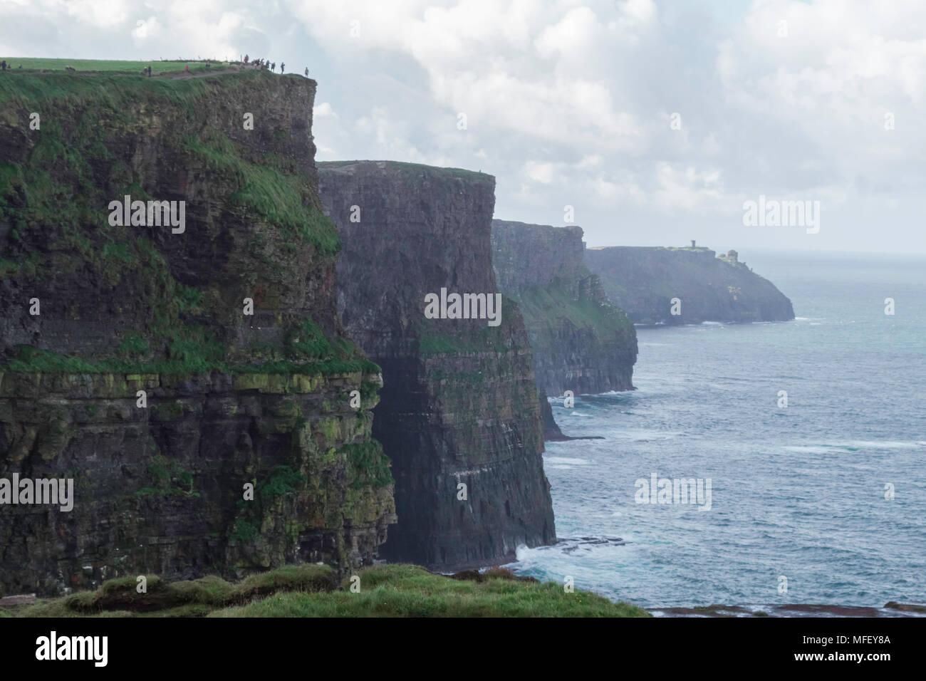Cliffs of Moher, Ireland, Europe, Atlantic Ocean coastline - Stock Image