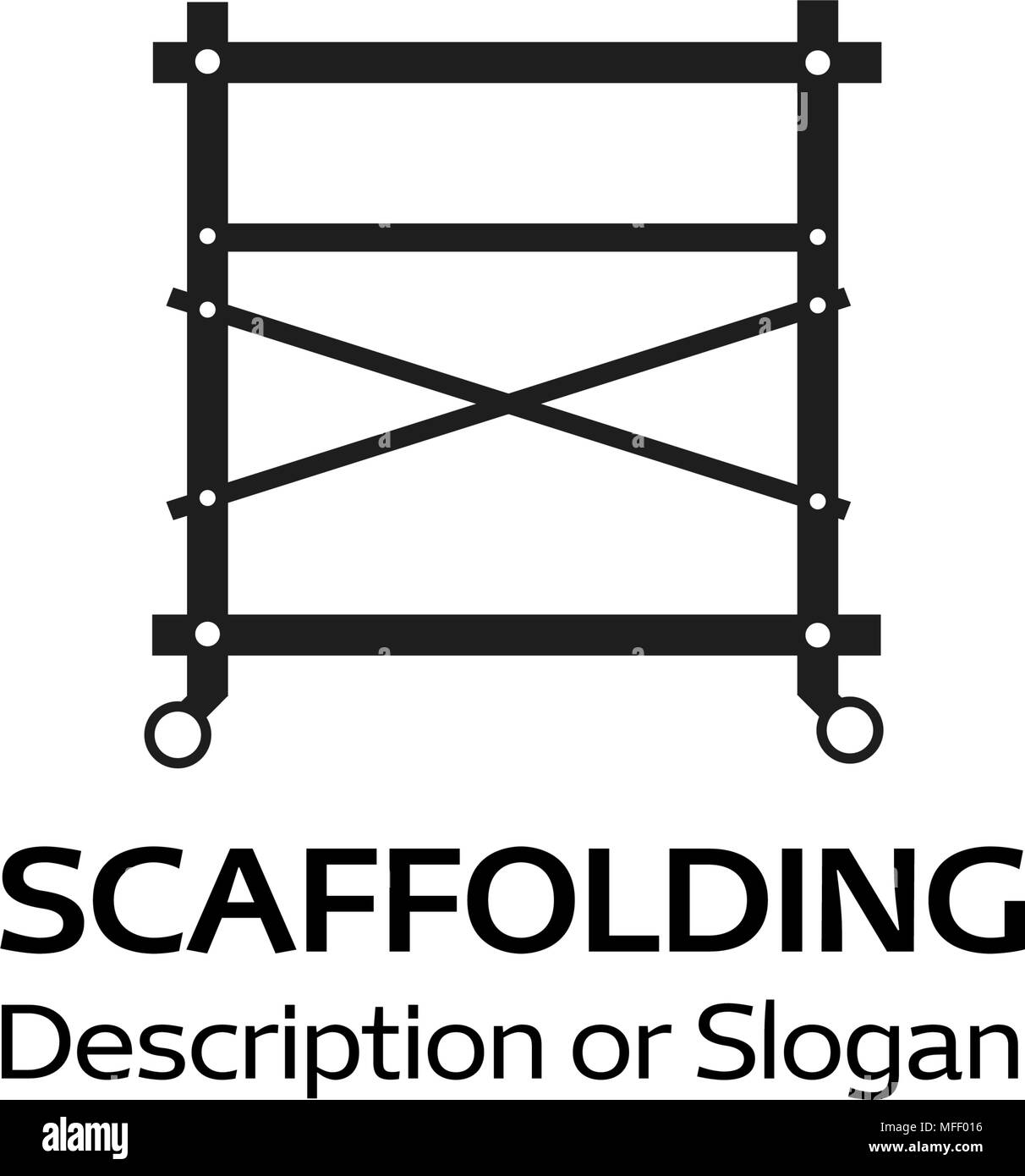 Logotype For The Company Selling Scaffolding, Vector Illustration - Stock Vector