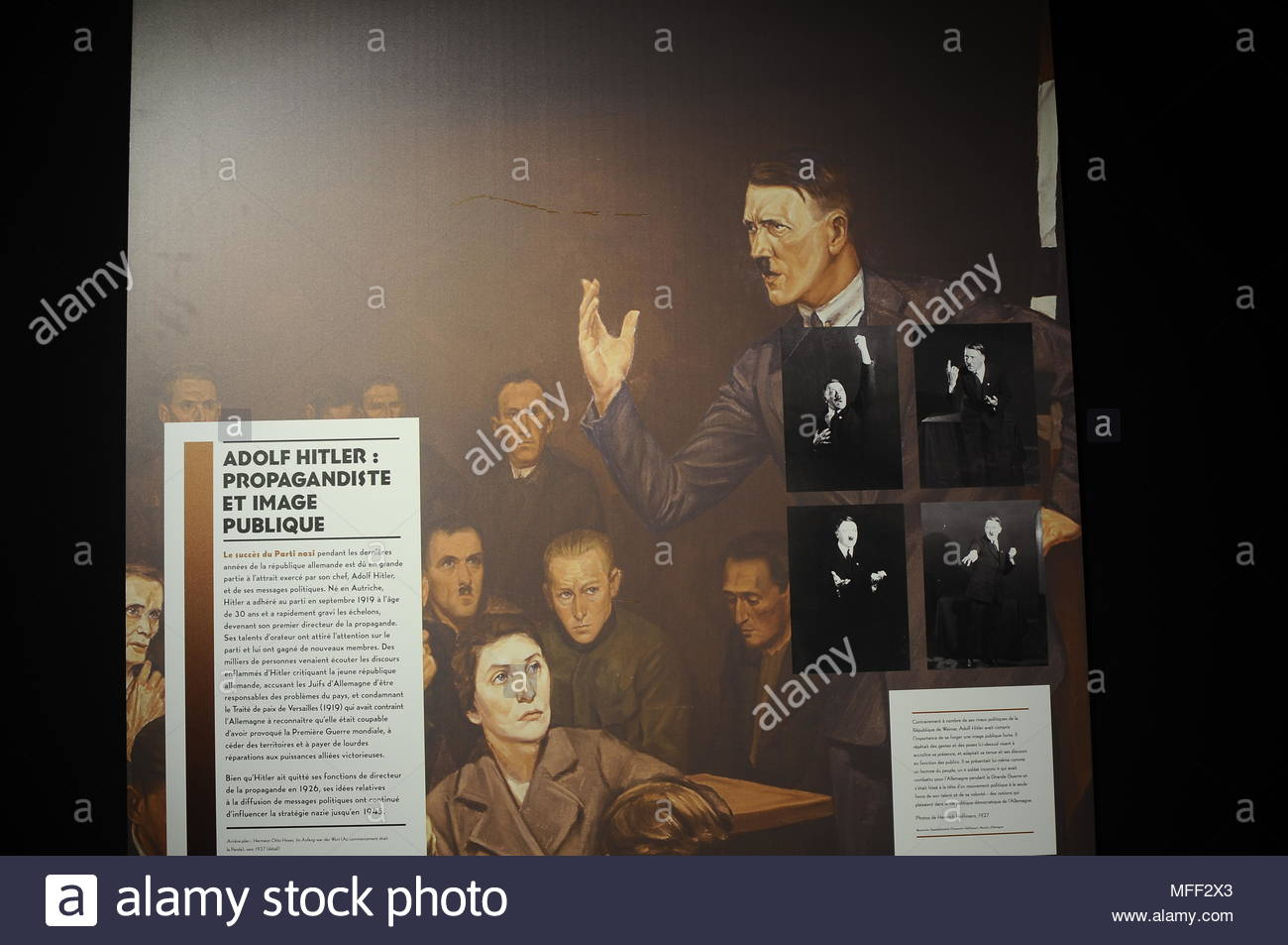 The power of the nazi propaganda-Le pouvoir de la propagande nazie - Stock Image