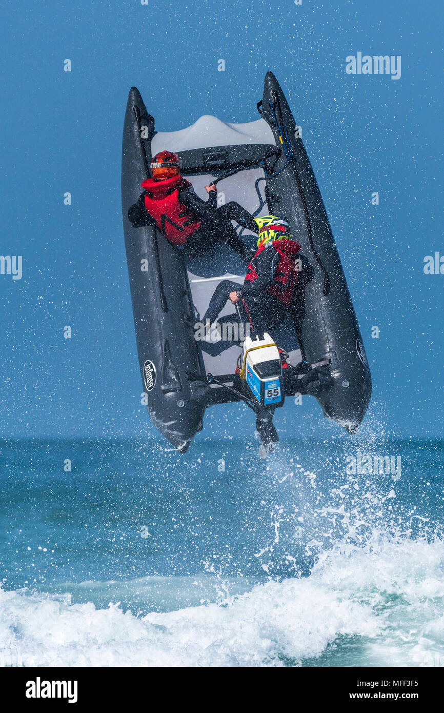 ThunderCat Racing Champiopnships held at Fistral in Newquay in Cornwall. - Stock Image