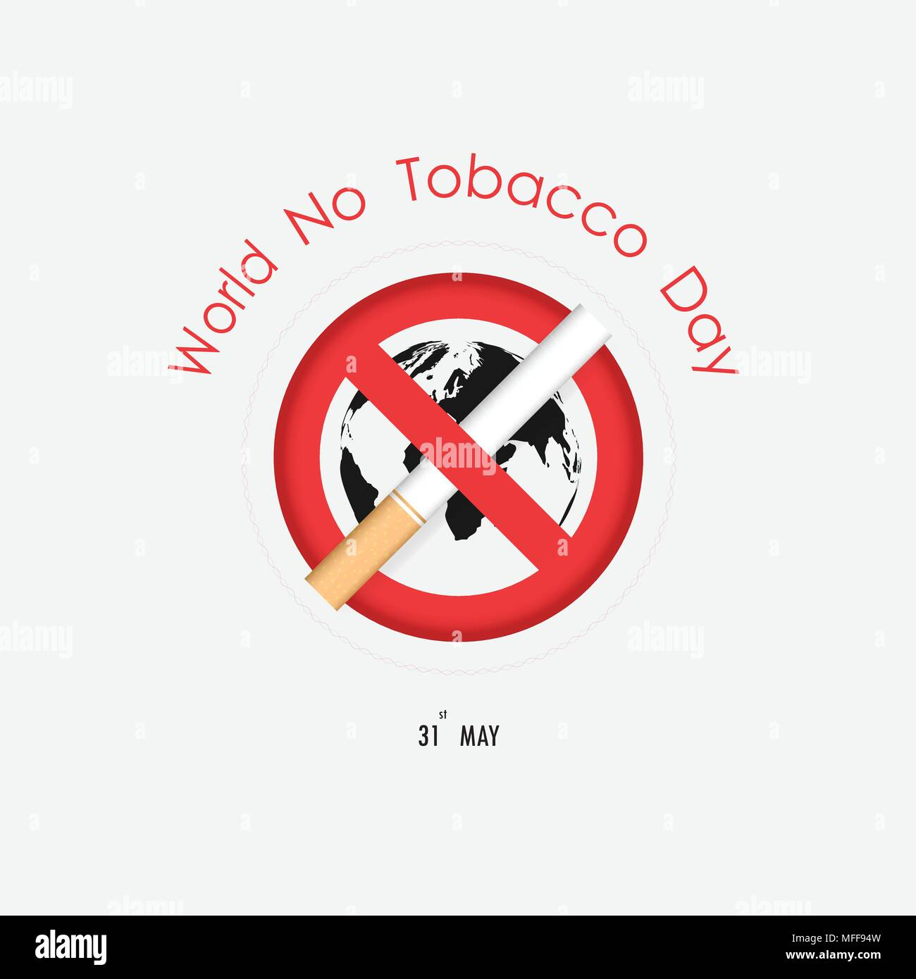 World map icon and quit tobacco vector logo design template no world map icon and quit tobacco vector logo design template no tobacco day smoking day awareness idea campaign for greeting cardposterbroch gumiabroncs Gallery
