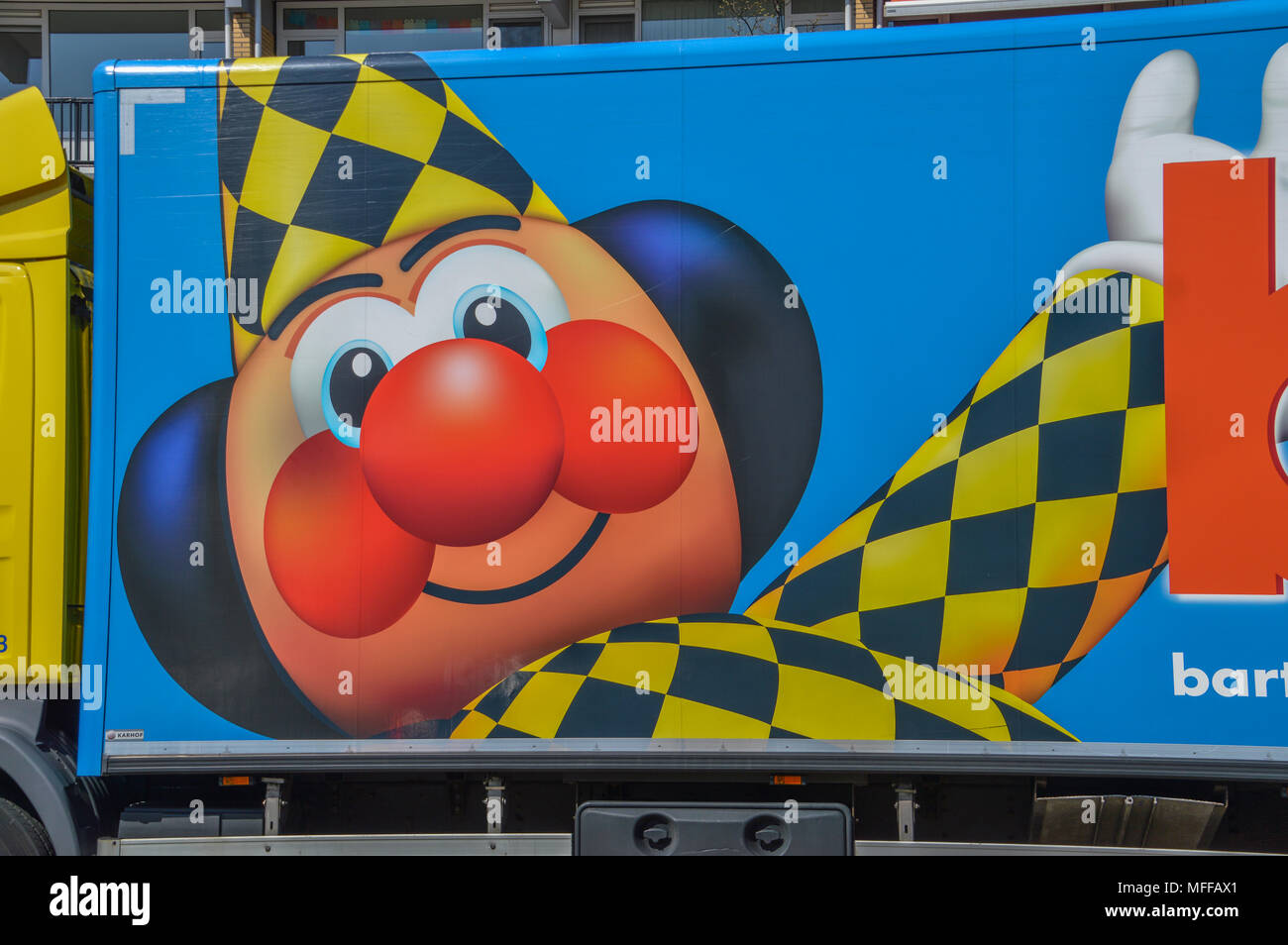 Bart Smit Toy Store Truck At Diemen The Netherlands - Stock Image