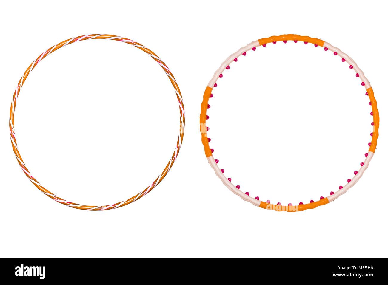 The hula Hoop isolated on white background - Stock Image