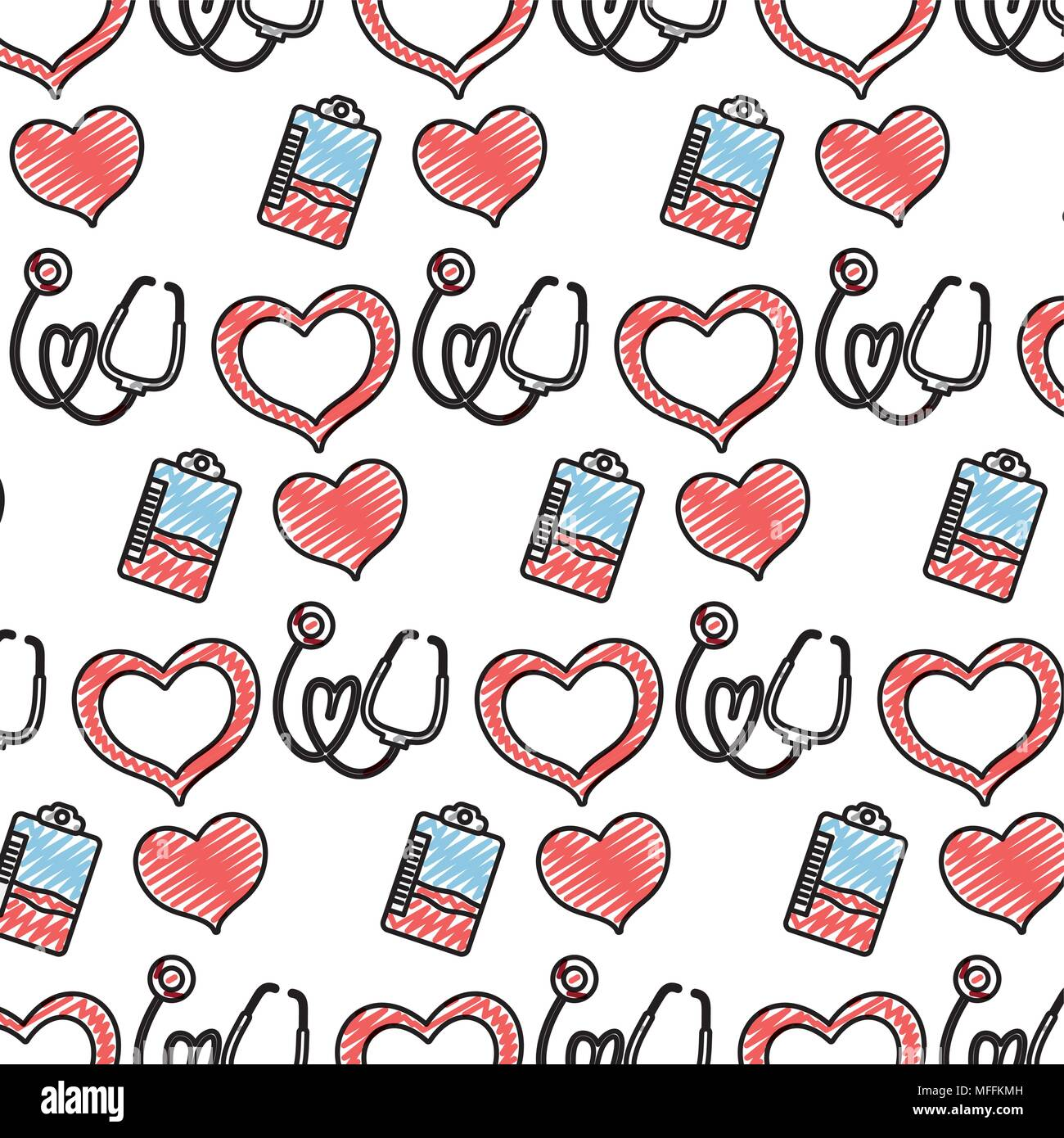 doodle blood donation transfusion event background, - Stock Image