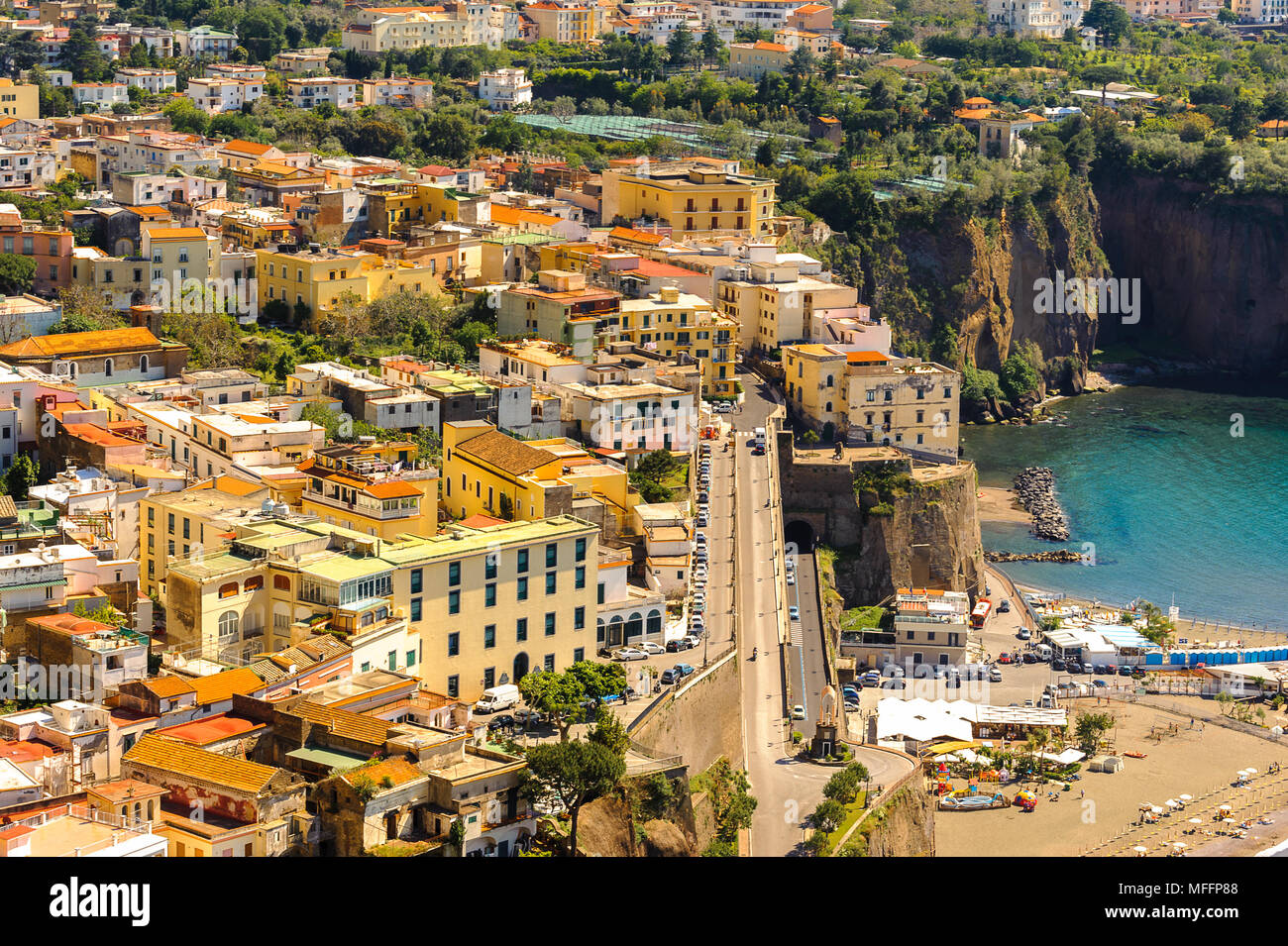 Aerial view of Sorrento, Italy - Stock Image