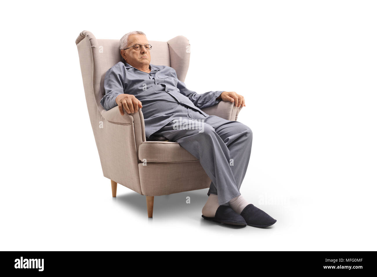 Slippers Old Person Cut Out Stock Images & Pictures - Alamy
