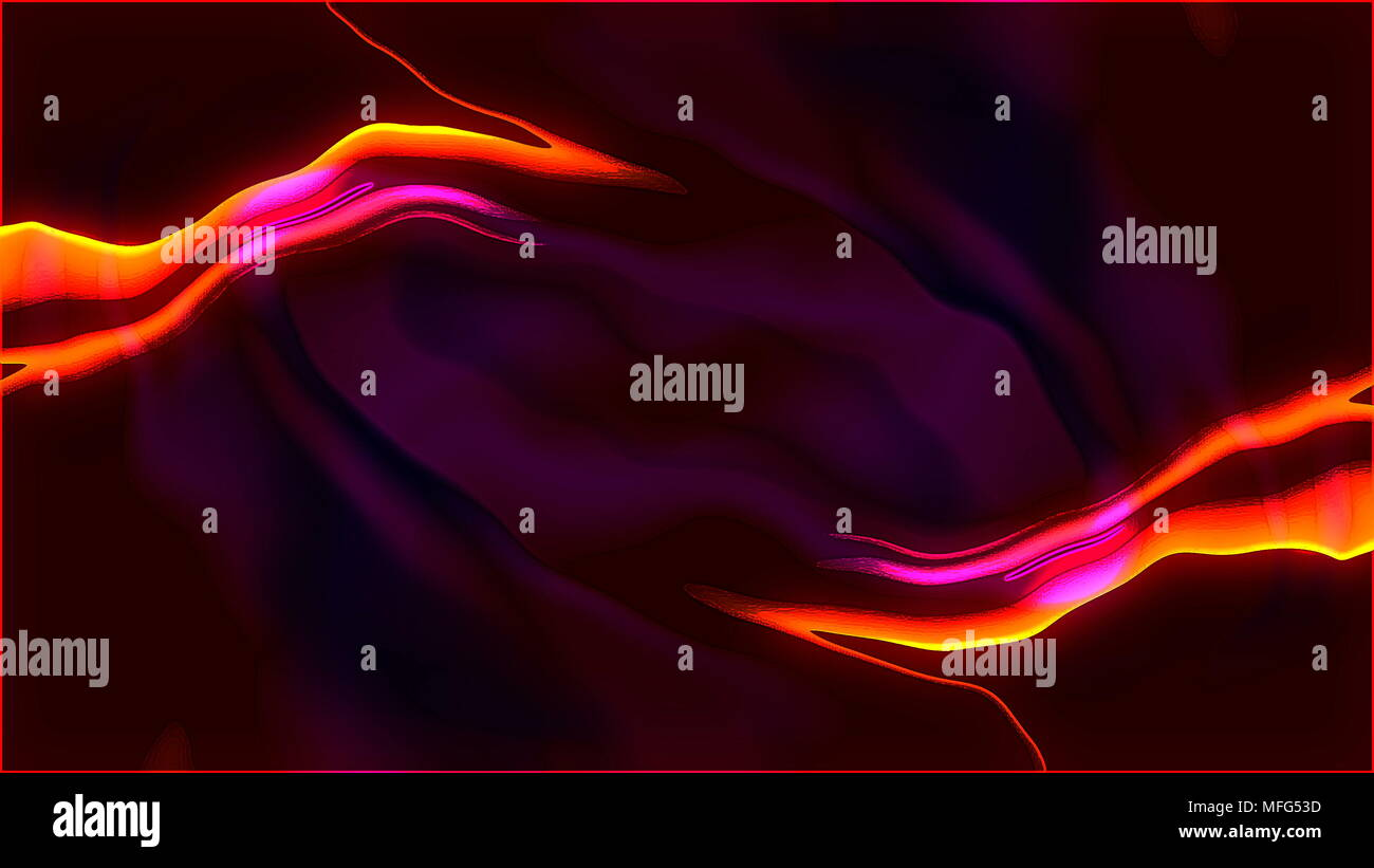 Abstract background with visual cartoon illusion and wave liquid effects, 3d render computer generating Stock Photo