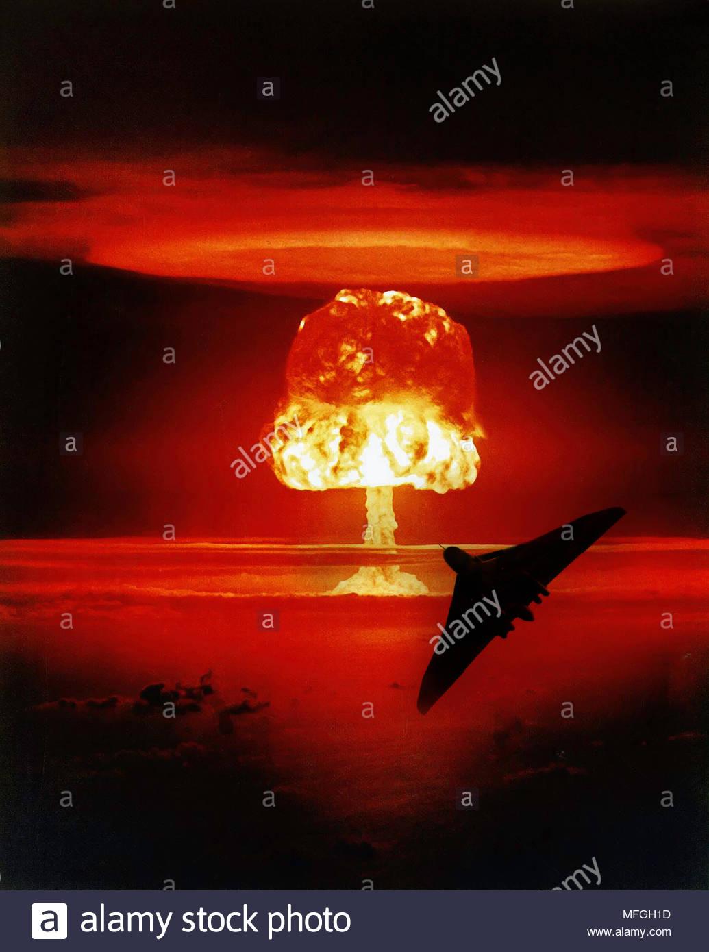 Nuclear Armageddon - Stock Image