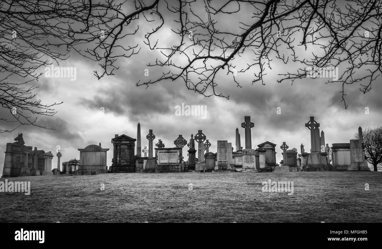 The Necropolis, Glasgow, Scotland, UK Stock Photo
