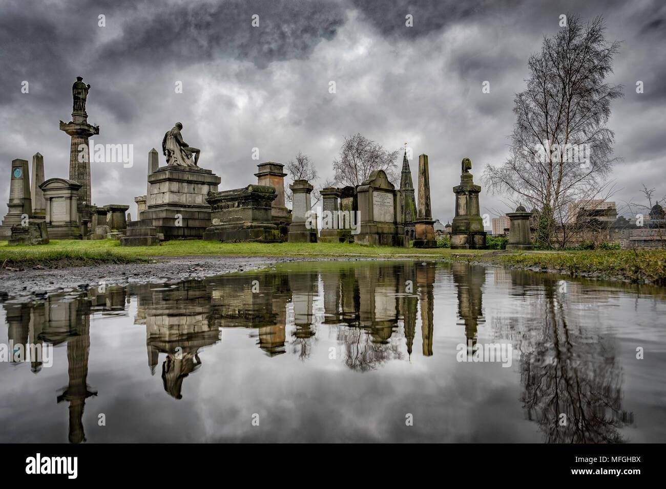 The Necropolis, Glasgow, Scotland, UK - Stock Image