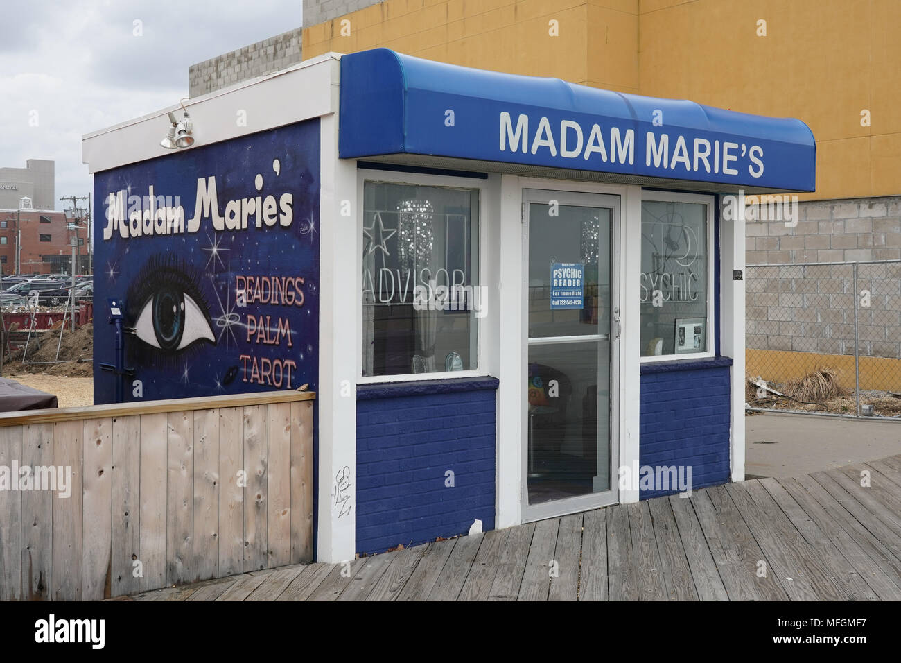 Madam Marie's astrology parlour in Asbury Park, New Jersey, in the