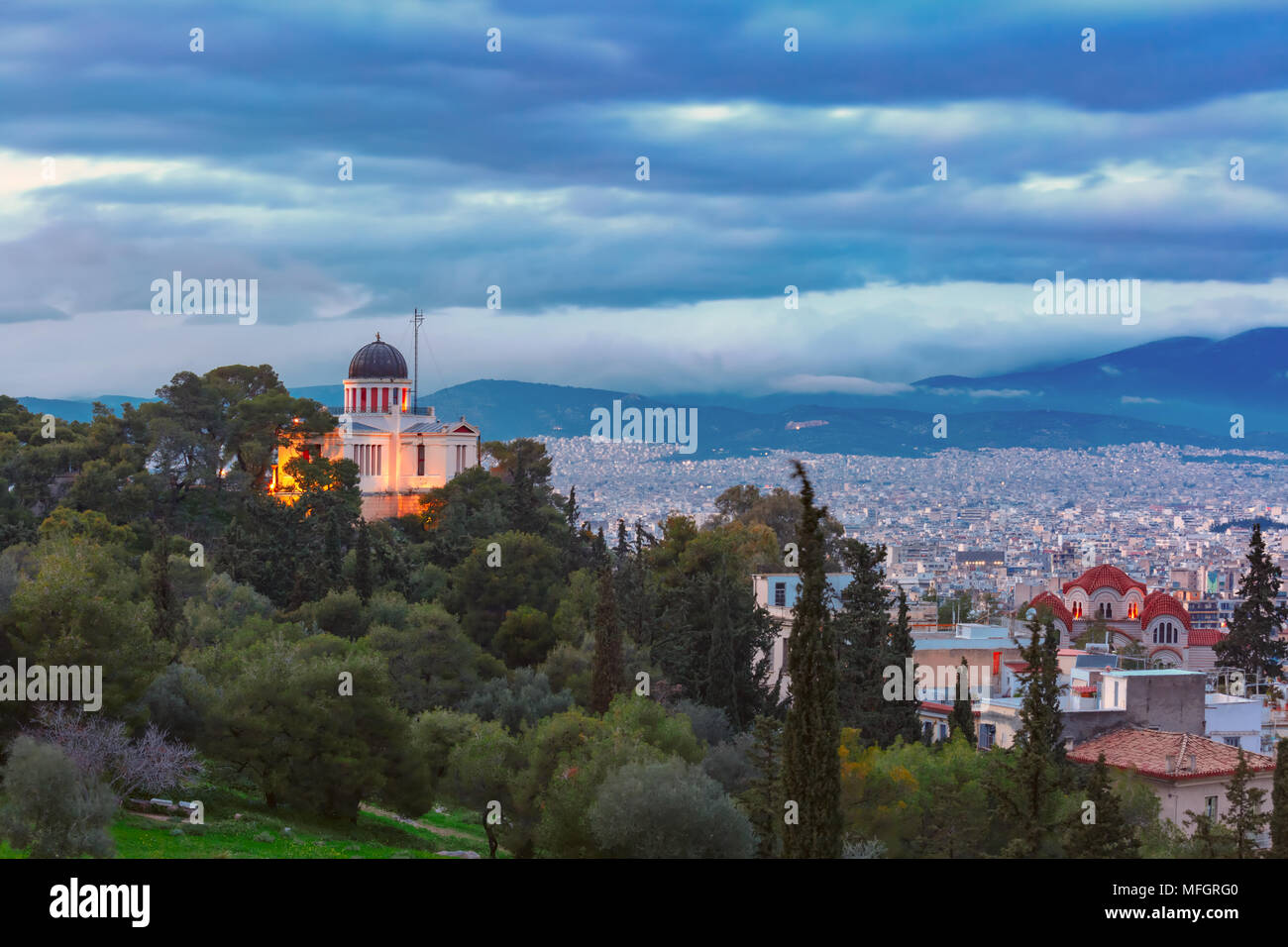 Church of St Marina in Thissio in Athens, Greece - Stock Image