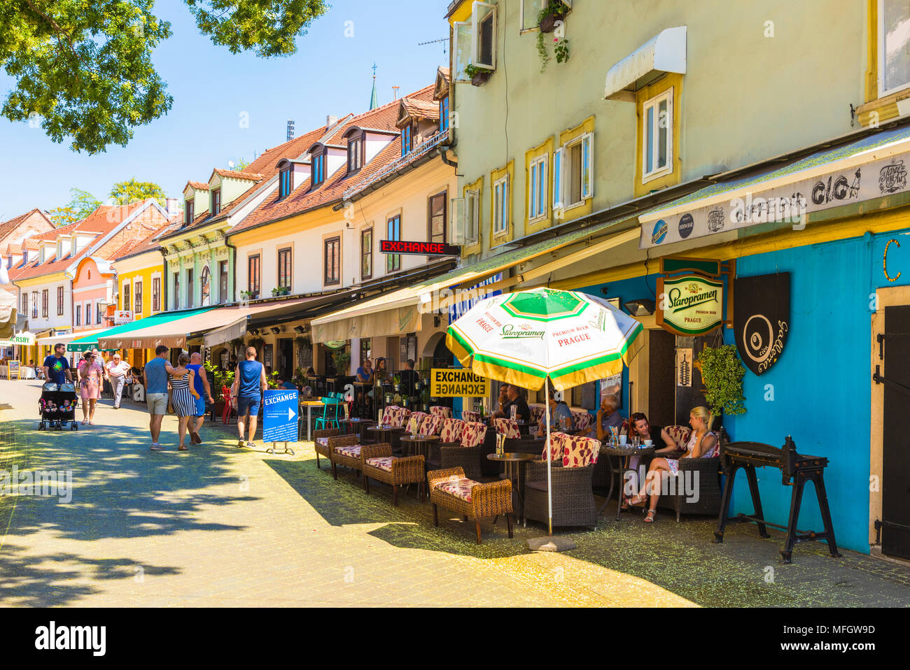 Cafe Street Scene Zagreb Croatia High Resolution Stock Photography And Images Alamy