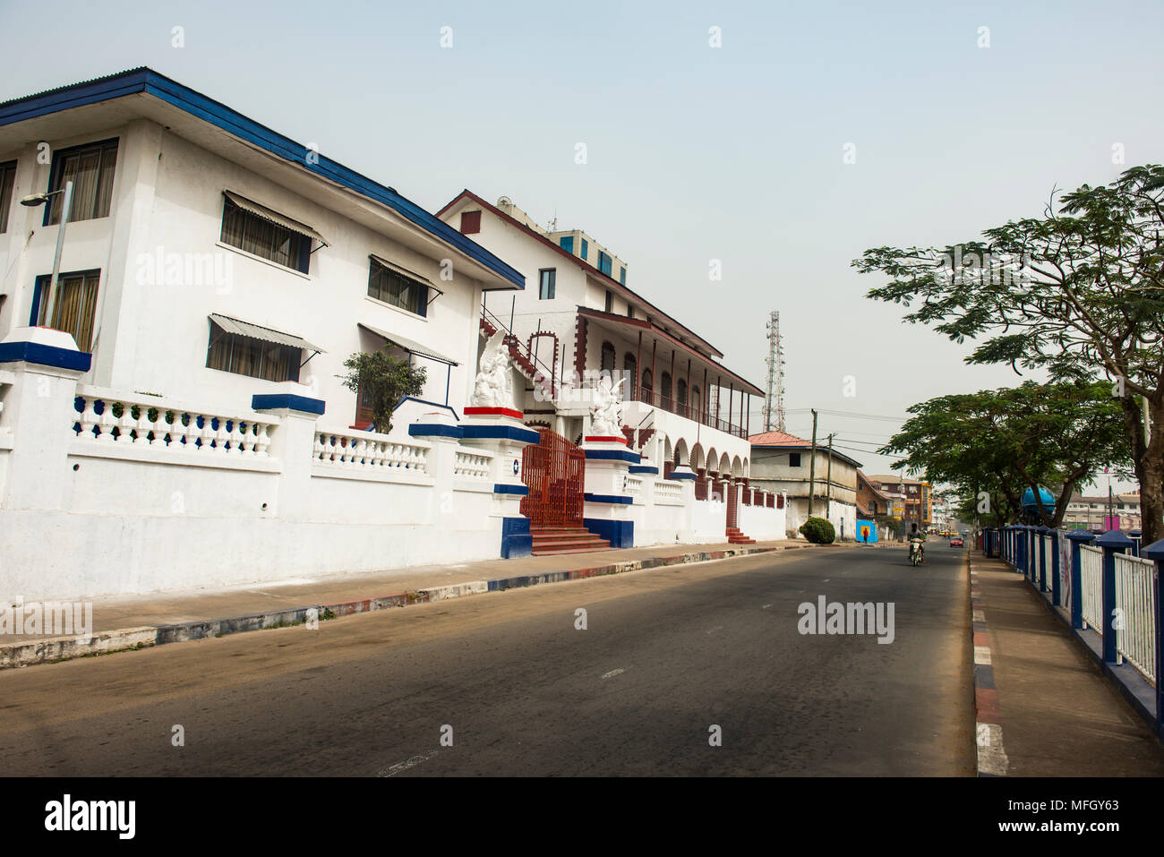 Kumba's place colonial building, Monrovia, Liberia, West Africa, Africa - Stock Image