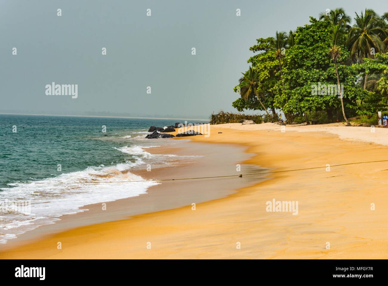 Beautiful beach in Robertsport, Liberia, West Africa, Africa - Stock Image