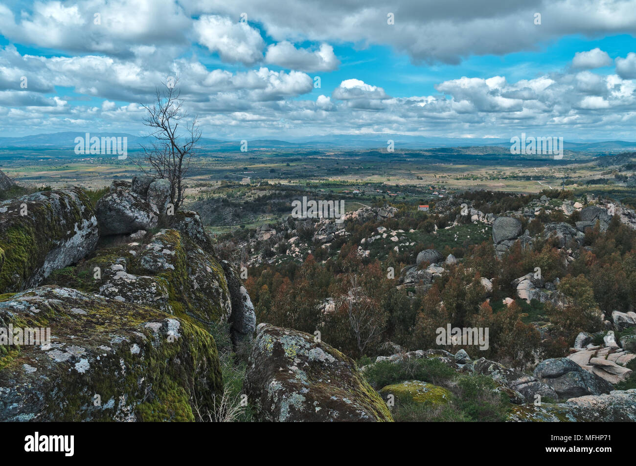 Monsanto mountain fields and nature in Portugal Stock Photo