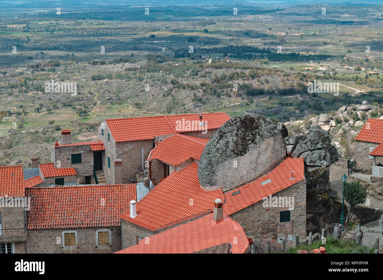 Monsanto village overview. Portugal Stock Photo