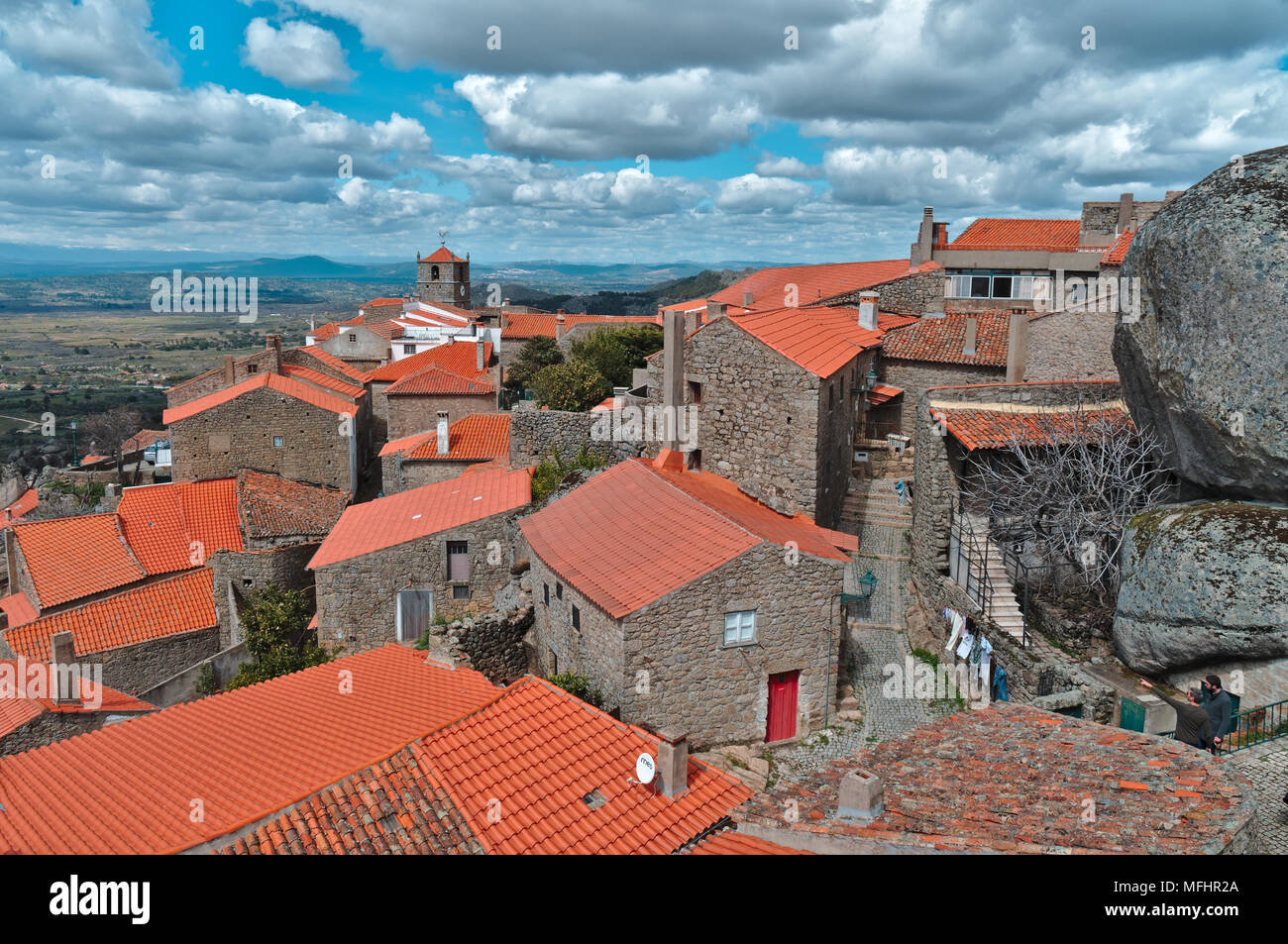 Monsanto village overview. Portugal Stock Photo