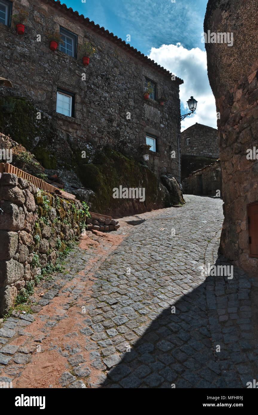 Streets of the village of Monsanto. Castelo Branco, Portugal Stock Photo