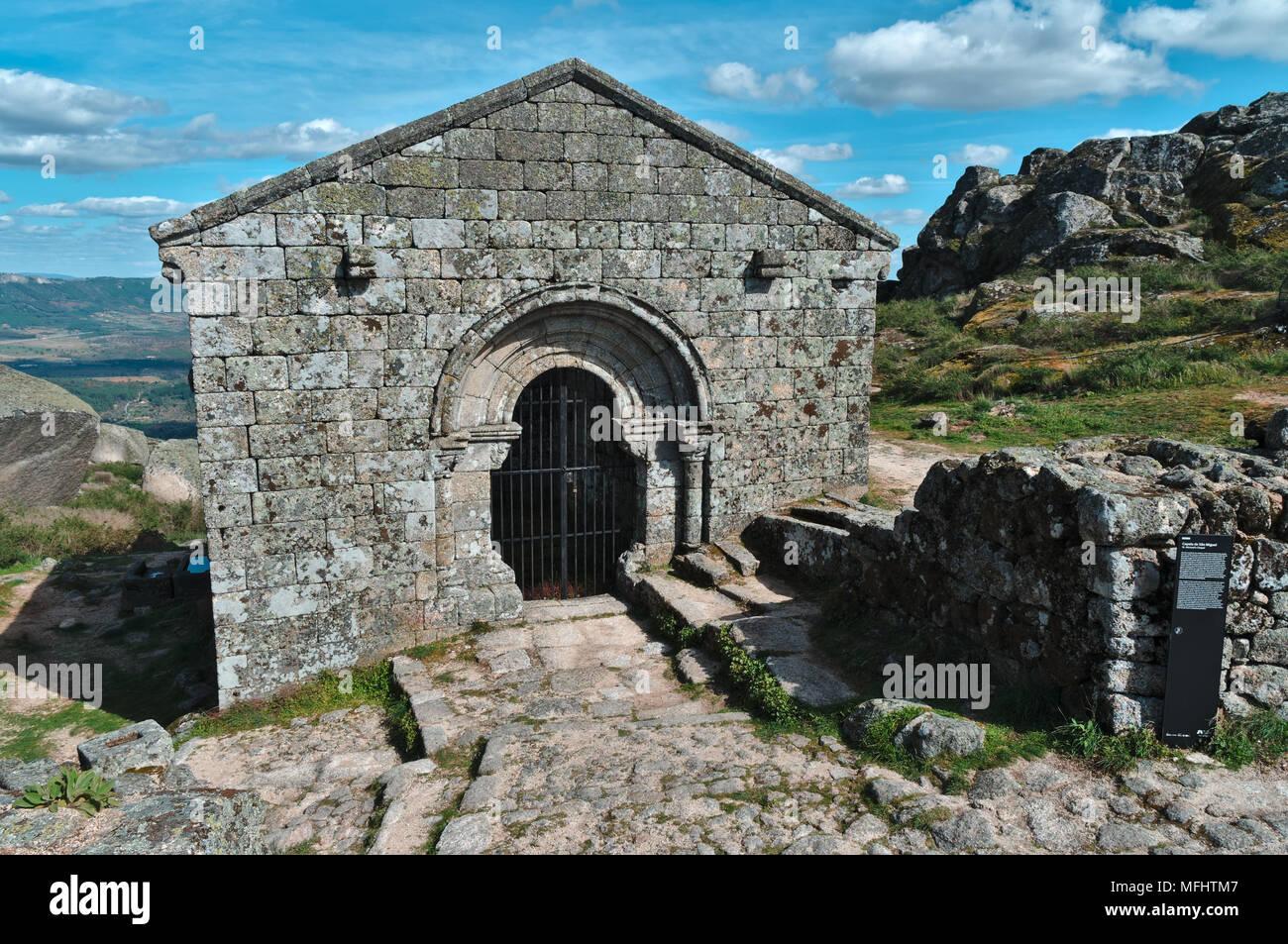 Sao Miguel Chapel in Monsanto. Castelo Branco, Portugal Stock Photo